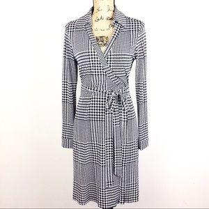 Calvin Klein Houndstooth Wrap Dress 10